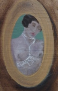 lady-and-pearls-2011-oil-on-paper-10x15cm